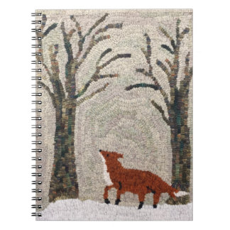 Fox Idea Journal - Rug Hooking Detail