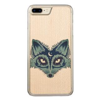 Fox Illustration Carved iPhone 8 Plus/7 Plus Case