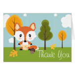 FOX IN DIAPERS BABY SHOWER THANK YOU CARD