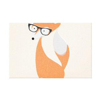 Fox In Glasses Canvas Print
