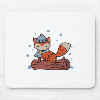 Fox In Snow Mouse Pad
