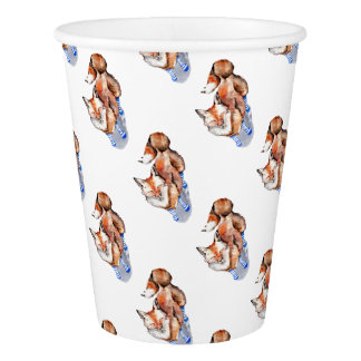 Fox in Socks Paper Cup