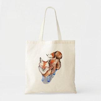 Fox in Socks Tote Bag