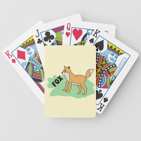 fox in the field bicycle playing cards