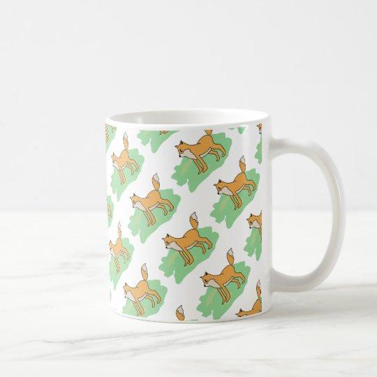 fox in the field coffee mug