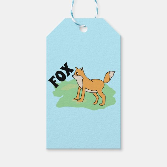 fox in the field gift tags