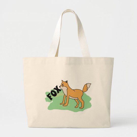 fox in the field large tote bag