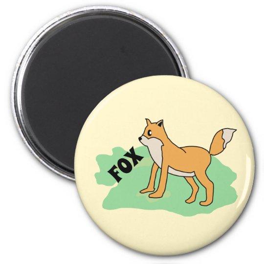 fox in the field magnet