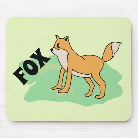 fox in the field mouse pad