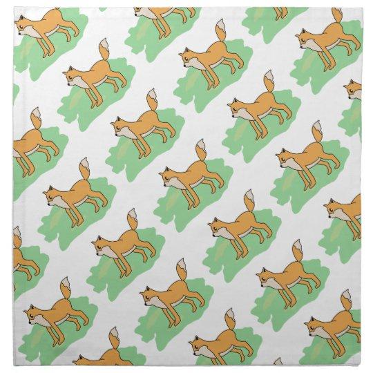 fox in the field napkin