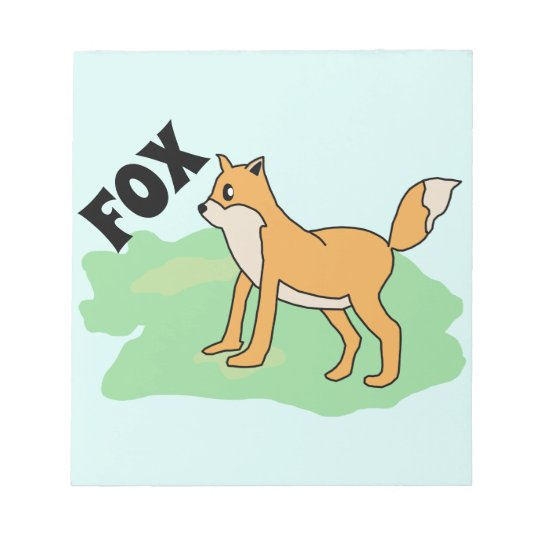 fox in the field notepad