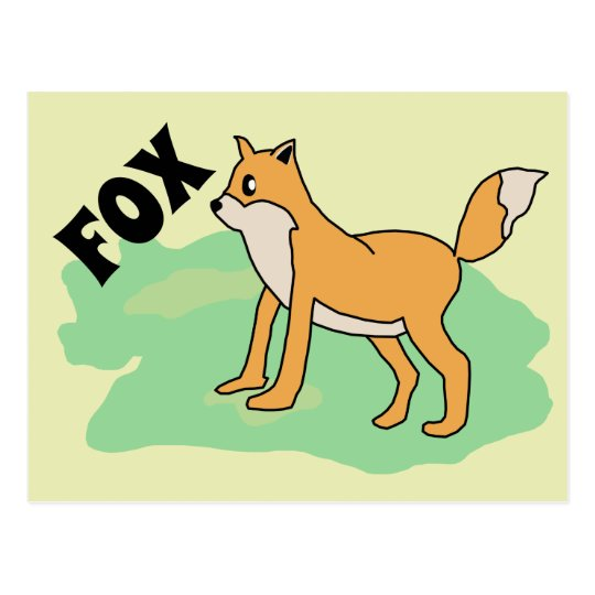 fox in the field postcard