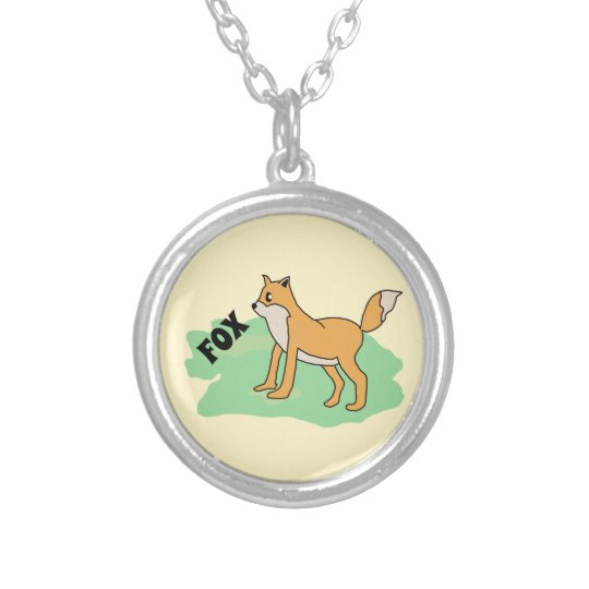 fox in the field silver plated necklace