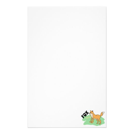 fox in the field stationery