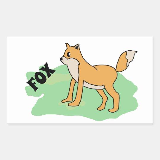 fox in the field sticker
