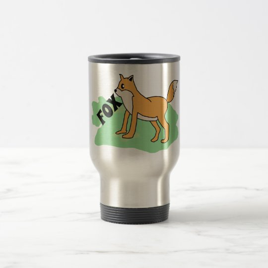 fox in the field travel mug
