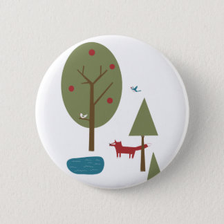 Fox in the Forest 2 Inch Round Button