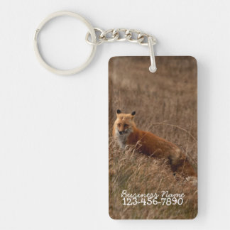 Fox in the Grass; Promotional Single-Sided Rectangular Acrylic Keychain