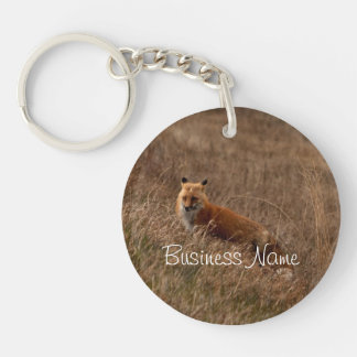 Fox in the Grass; Promotional Single-Sided Round Acrylic Keychain