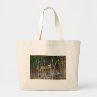 Fox in Woods Large Tote Bag