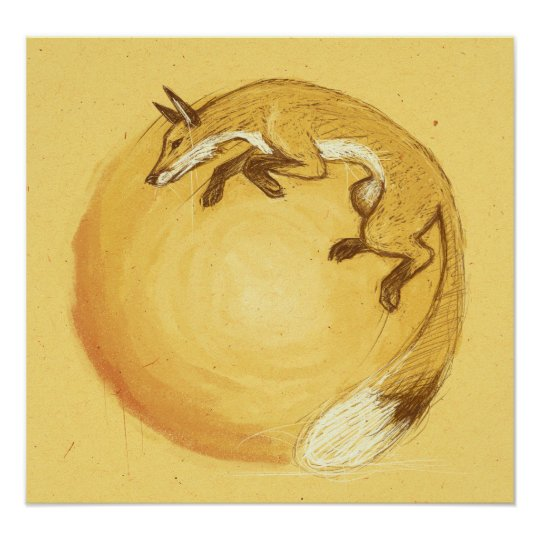 Fox Jump Poster