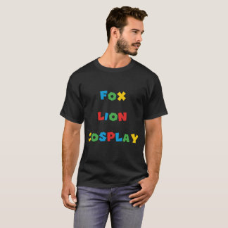 Fox Lion Cosplay Shirt in Super Mario Font