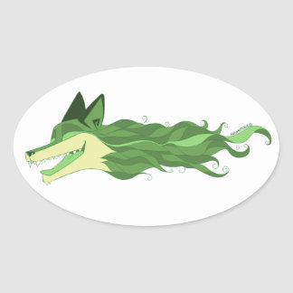 Fox Live Wildly Green Sticker