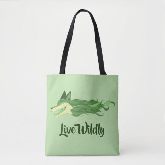 Fox Live Wildly Tote Bag Green