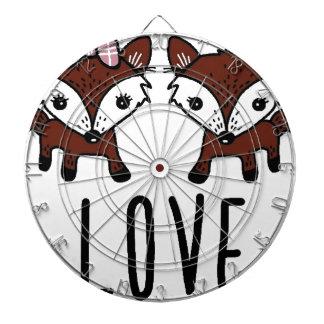 Fox love dartboard