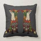 fox love lead linen throw pillow