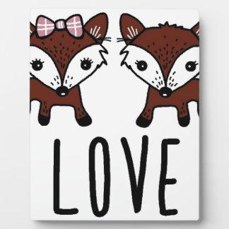 Fox love plaque