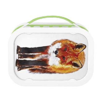 fox lunch box, fox picnic, fox gift lunch box