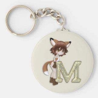 Fox M Keychain