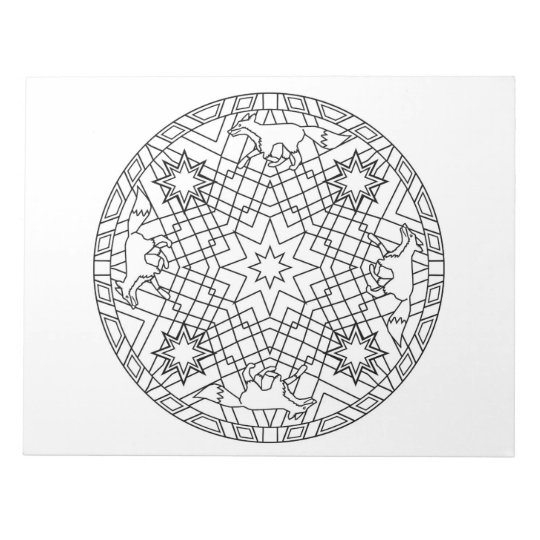 Fox Mandala Colouring Book Pad