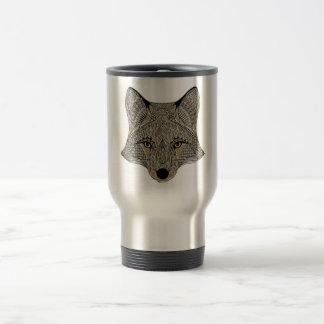 Fox metallic fox art collection travel mug