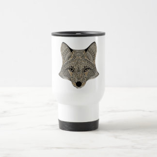 Fox metallic fox art collection white travel mug