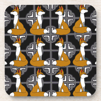 Fox motif  Square coasters