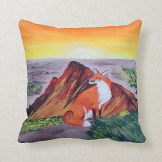 Fox Muse Throw Pillow