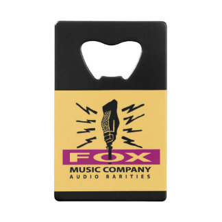 Fox Music Company Credit Card Bottle Opener