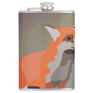 Fox on meadow flasks