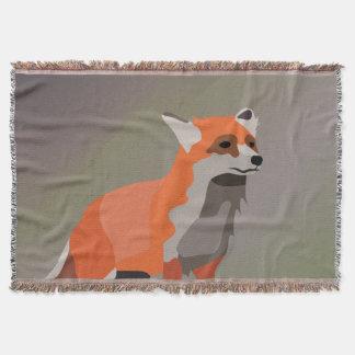 Fox on meadow throw
