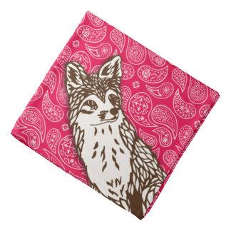 Fox on Red Paisleys Kerchiefs