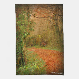 Fox on the Golden Path Poster ~ Fantasy Kitchen Towel
