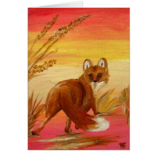 Fox on the hunt Greeting Card