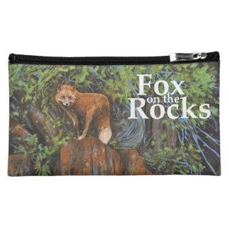 Fox on the Rocks Painting Makeup Bag