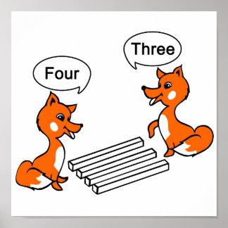 Fox Optical illusion Trick Poster