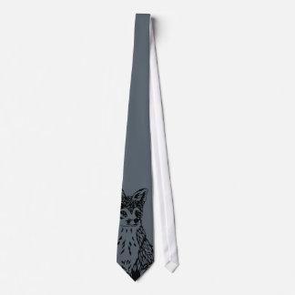 Fox Peek Tie Gray