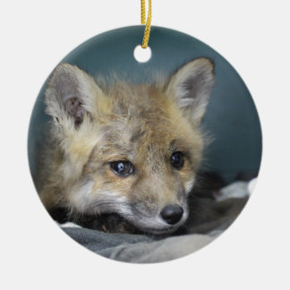 Fox Phone Case Ceramic Ornament