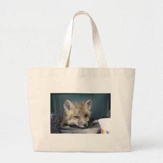Fox Phone Case Large Tote Bag