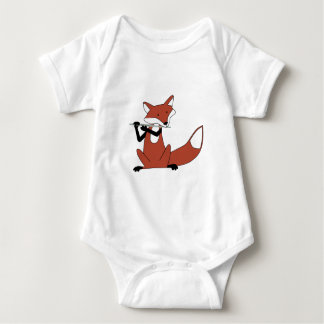 Fox Playing the Flute Baby Bodysuit